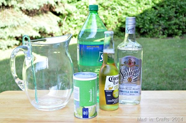Beer Margaritas: The great thing about this recipe is how simple it is to mix up.  Pour in the limeade and beer and then use the empty can to measure out the rest of the ingredients.
