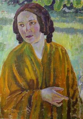 Victor Borisov-Musatov (Russian artist, 1870-1905) Woman with a Shawl