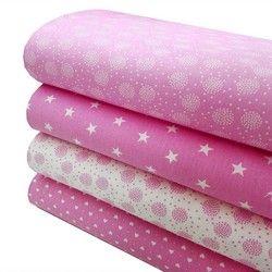 ceske bavlnene latky ruzove hviezdy