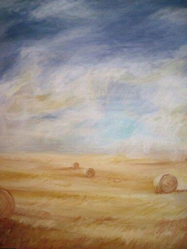 'Hayfields' Acrylic on canvas 2009