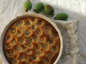 Feijoa tart is a great in autumn.