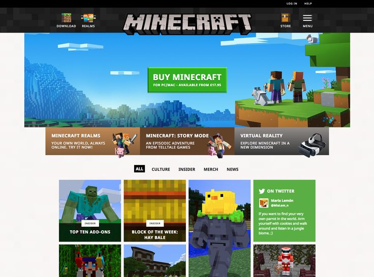 https://minecraft.net/  Minecraft website has some nice touches with animation on hover states. Colourful and playful but still really clean and works equally well for older kids and adults.