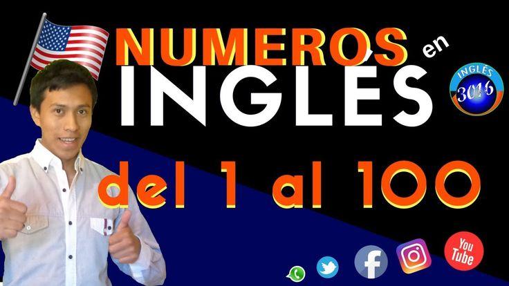 Los números en ingles del 1 al 100  Aprender todos los números en inglés con este vídeo. #aprenderingles #ingles #aprender #idiomas #numeros