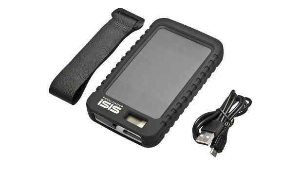 The Freeloader iSIS offers on-the-go solar-powered rechargability for phones, GPS and more for runners who...