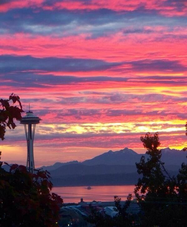 sunset on the seattle - photo #21