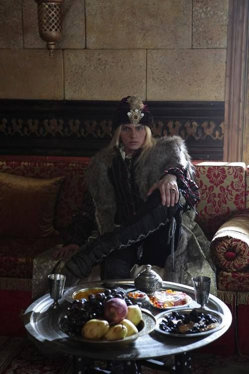 Andrej Pejic as Radu the Beautiful aka Dracula/Vlad the Impaler's younger brother in Turkish TV series 'Fatih'.