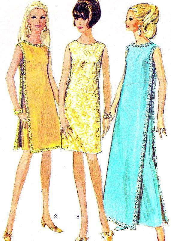 1960s Dress Pattern Simplicity 7344 Mod Sleeveless by paneenjerez, $10.00