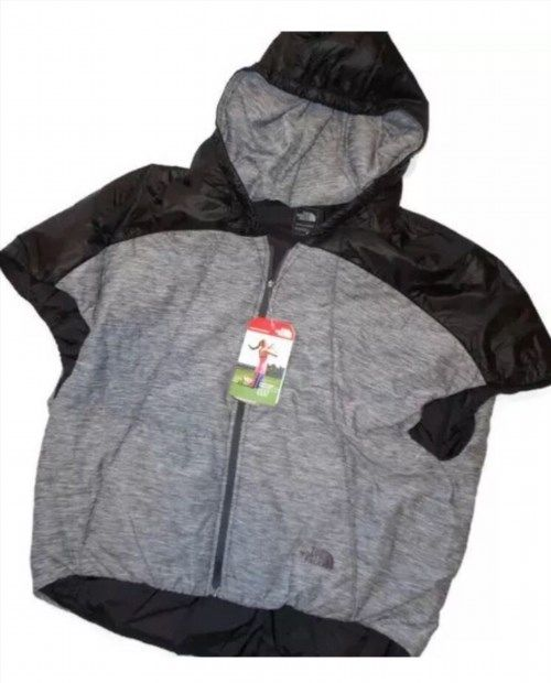 76.94$  Watch now - http://vimjy.justgood.pw/vig/item.php?t=szmjvj341562 - The North Face PSEUDIO PONCHO vest Ladies Jacket Black Gray Medium M 76.94$