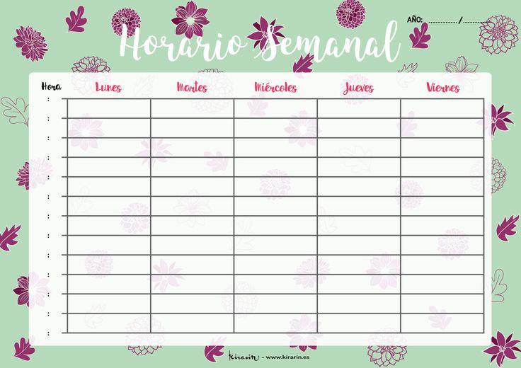 Horario semanal descargable de Kirarin