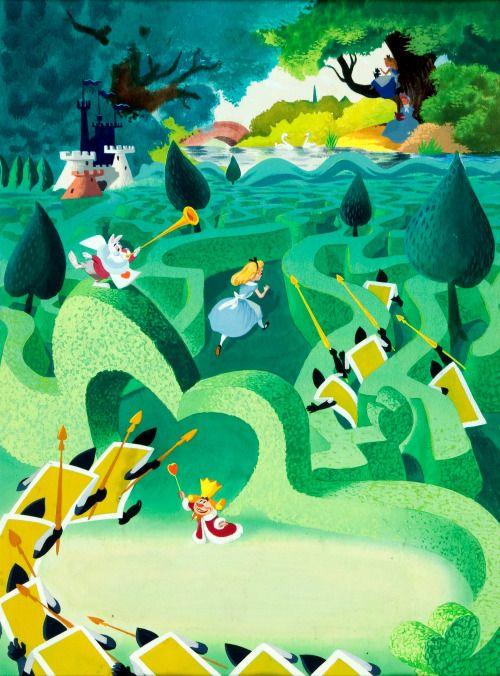 """gameraboy: """"Alice in Wonderland Big Golden Book illustration by Al Dempster """""""