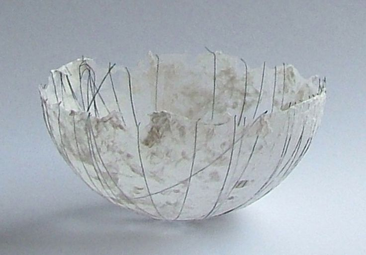 Petra Poolen, paper bowl  See site for paintings, prints, paper sculpture, etc
