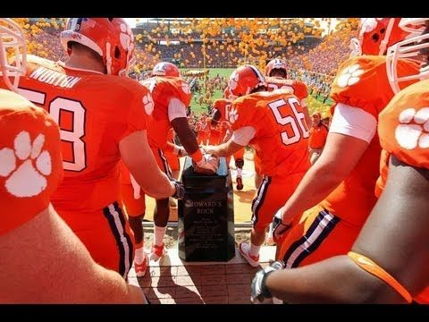 I love Clemson's entrance!! Bring so much excitement into the stadium!! Clemson's Dramatic Stadium Entrance Will Give You CHILLS - awesome video capturing the most exciting 25 secs in college football. GO TIGERS!!!!