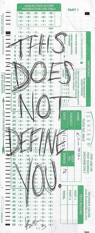 Standardized tests do not define you or who you are meant to be! This includes teachers!!