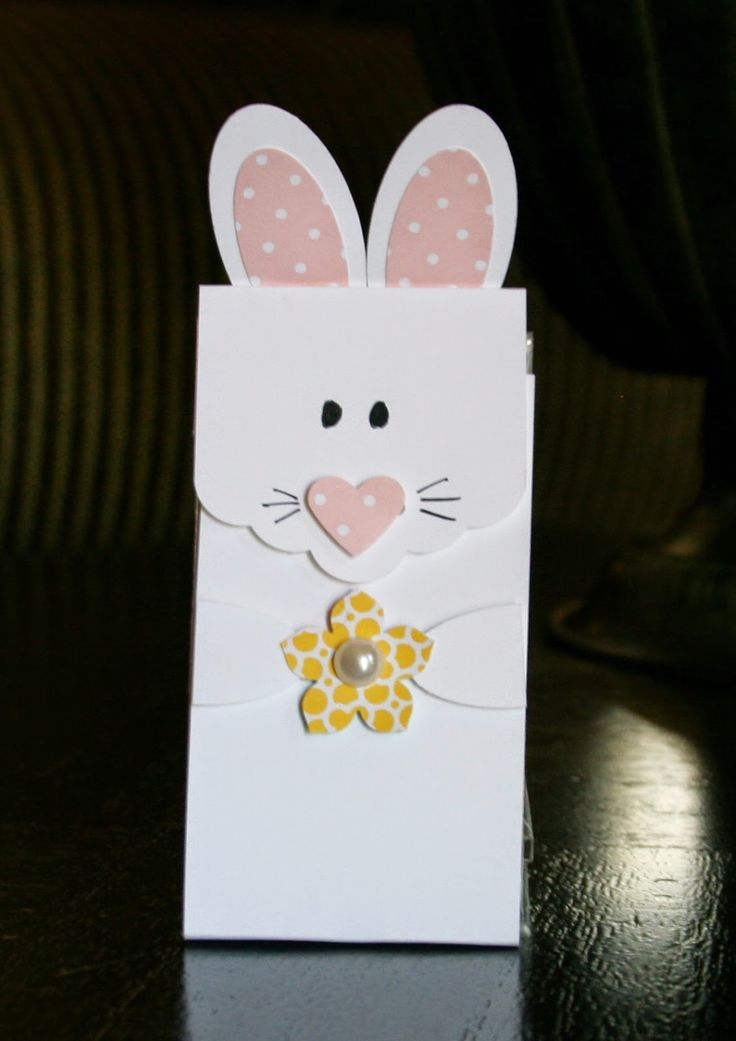 Here Is A Bunny Treat Bag Made With The Sc Find This Pin And More On Stampin Up Easter Ideas