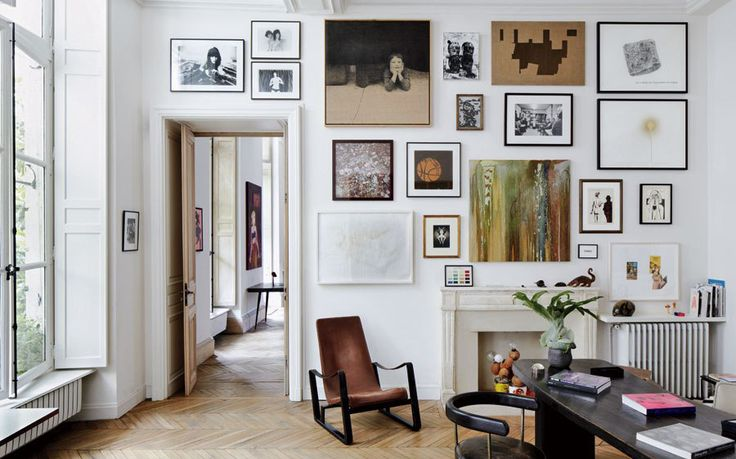 Art filled apartment In Paris's Marais, Photo by Simon Watson, Styled by Carlos Mota