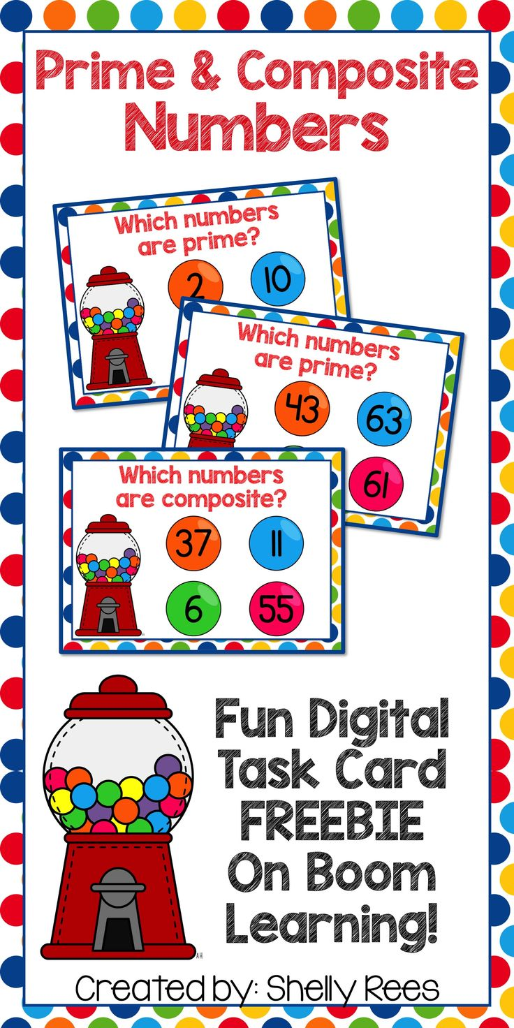 Prime and Composite Numbers Digital Task Cards - Perfect for practice and learning of prime and composite numbers! Digital Task Cards are easy - just download a set and the fun begins on any computer device!