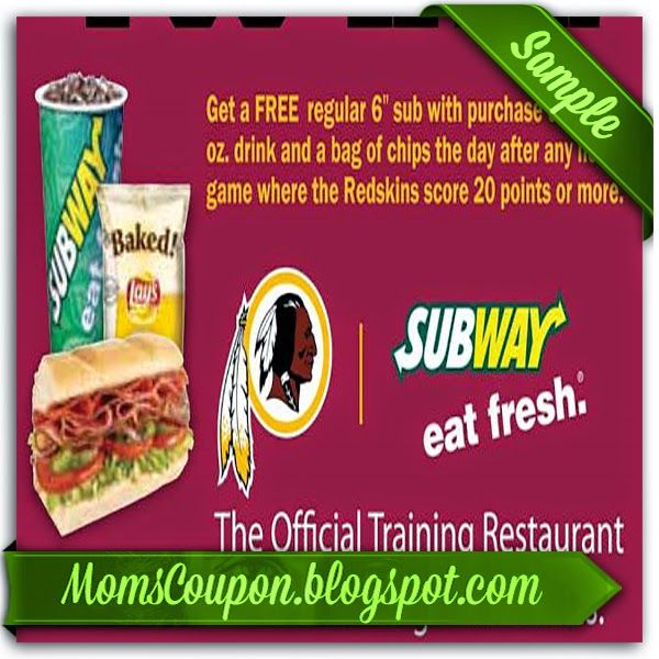 printable Subway coupons 20% off February 2015