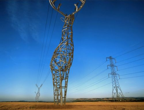 Deer hydro towers by Design Depot – more (future world) images @ http://www.juxtapoz.com/Current/deer-hydro-towers-by-design-depot – Moscow, Russia, Design Depot, Power Line, Deer