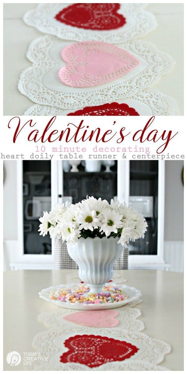 10 Minute Valentines Table Decor Cheap Valentines Day Ideas Valentine Day Table Decorations Valentine S Day Diy