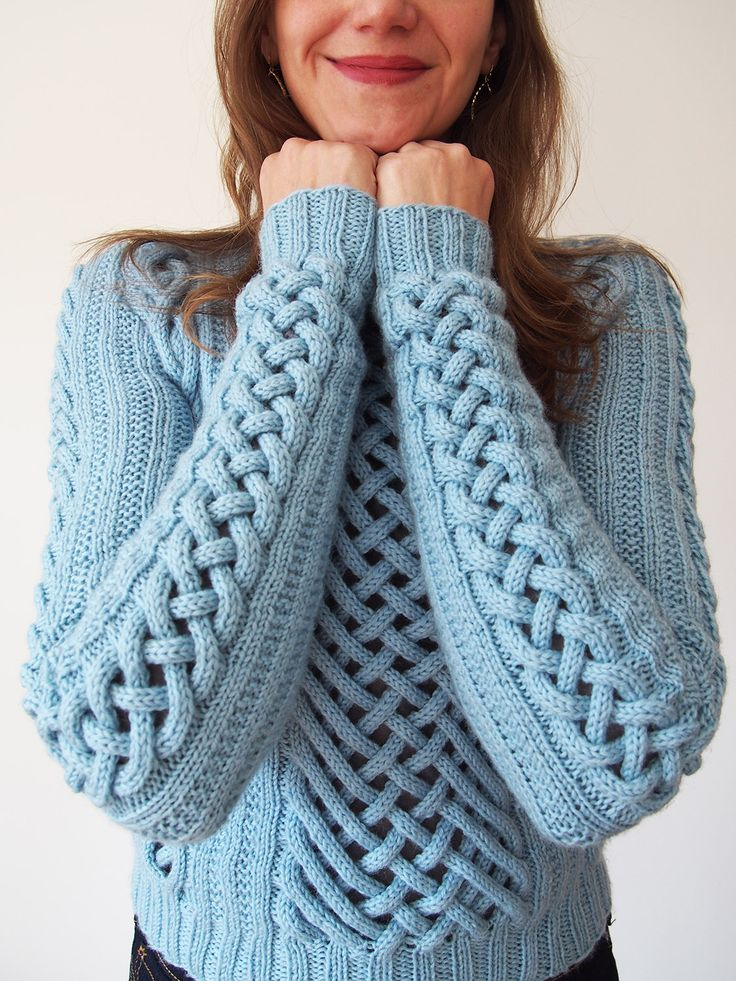 Shiri Mor's Fretwork Pullover pattern from Vogue Knitting 2015, knit by Dayana Knits.