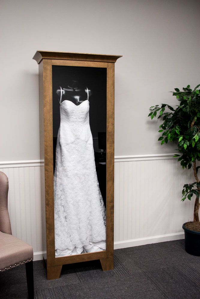 Beautiful Wedding Dress Display Case Distinctive Millworks Wedding Dress Frame Wedding Dress Preservation Wedding Dress Shadow Box