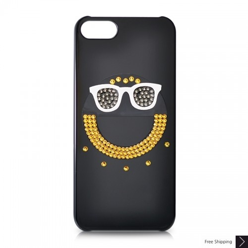 Smiley Bling Swarovski Crystal iPhone 5 Cases
