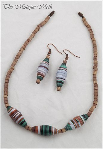 paper beads necklace | Flickr - Photo Sharing!