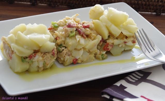 delantal o mandil: Ensalada de patata del #diadelaensalada