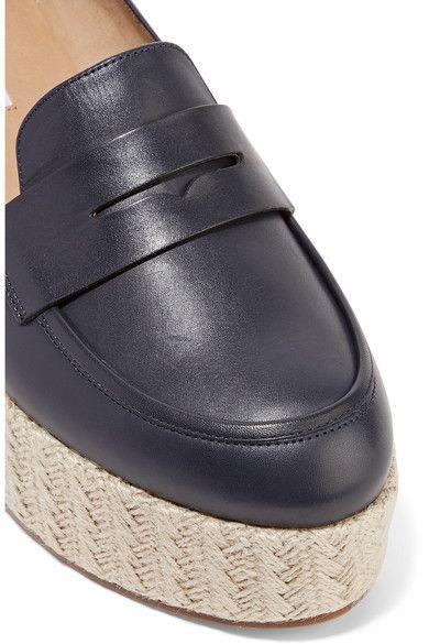 Gabriela Hearst - Brucco Leather Platform Loafers - Navy - IT35.5