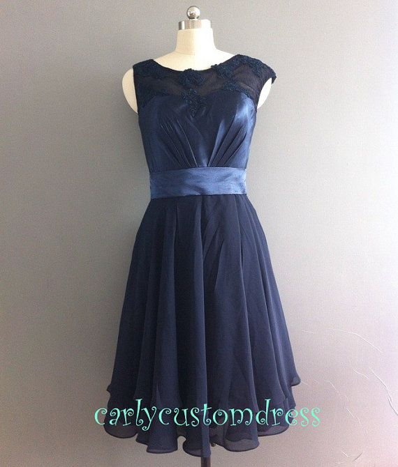 Short lace bridesmaid dress navy blue bridesmaid black for Navy plus size dress for wedding