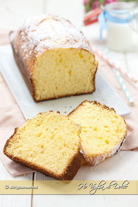 Plum-cake alla ricotta sofficissimo e senza burro