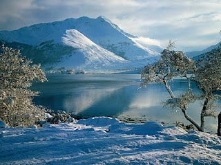 Scottish Highlands in winter, okay maybe id'd rather go in summer, but it doesn't get more pretty than this