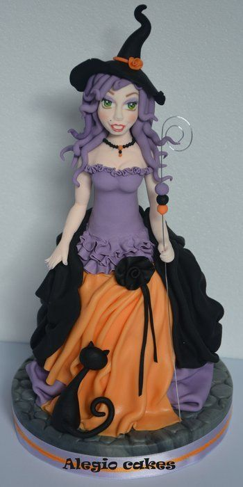 Witch Topper Cake By Alegiocakes Cakes Pinterest
