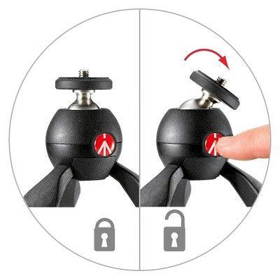 Manfrotto Pixi Portable Camera Tripod - Black (Mtpixi-B)