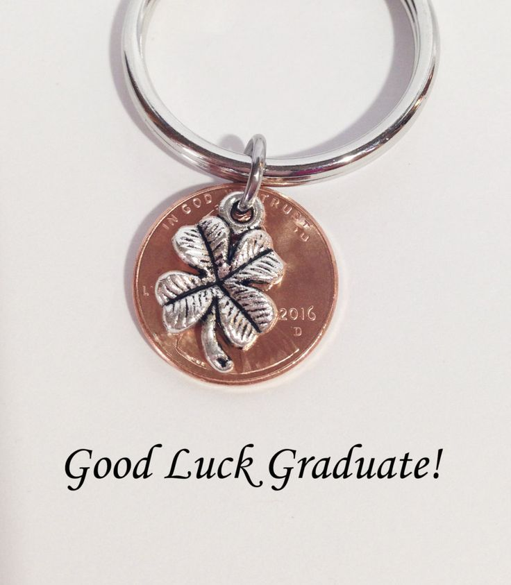 Graduation Gift, Penny Keychain, Lucky Penny, Lucky Penny Keychain, Class of 2016, Penny, Good Luck Graduate, 2016 Penny, Gift for Friends by SincereImpressions on Etsy