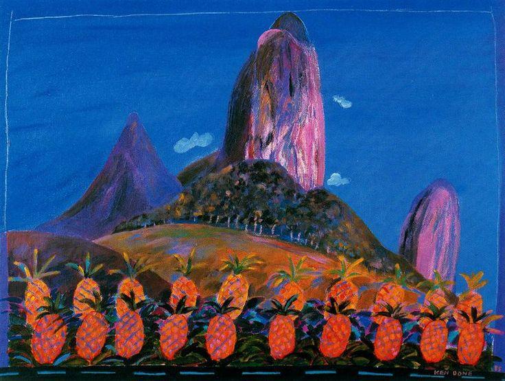 CAMNGH6Z Ken Done Glasshouse Mountains, Queensland, Aus