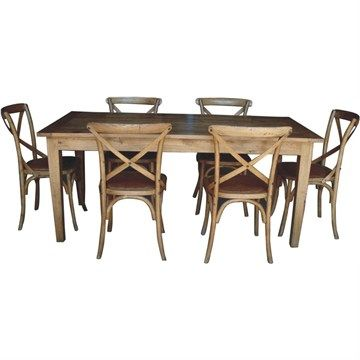 Sherwood Solid Oak Dining Table (Only) -210x100cm $1,075