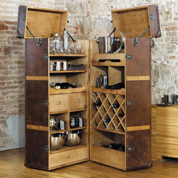 25 mini home bar and portable bar designs offering convenient space saving ideas lighting. Black Bedroom Furniture Sets. Home Design Ideas