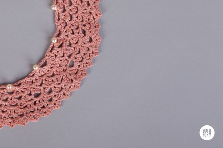 #crochet #collar by Marzena Graczyk. #young #designers #polish #Poland #Lodz #shopofform #pink #accessories photos are made by Marta Jagielska.