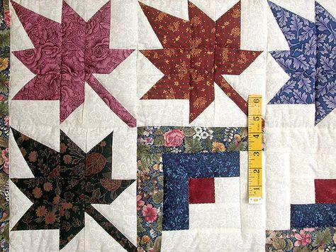 Autumn Splendor Log Cabin Quilt -- marvelous smartly made Amish Quilts from Lancaster (hs359)