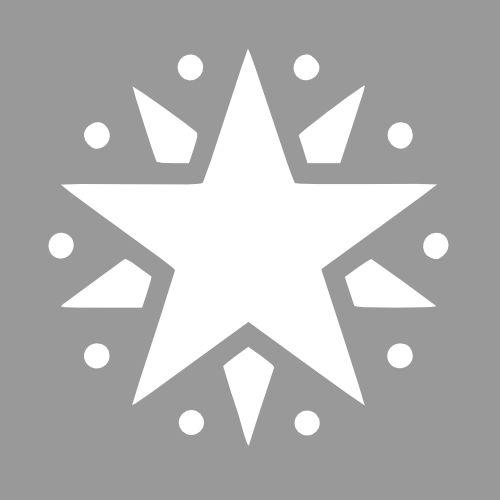 Sjabloon ster - Maak op maat en bestel