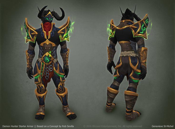 ArtStation - Legion - Demon Hunter Armor, Genevieve St-Michel