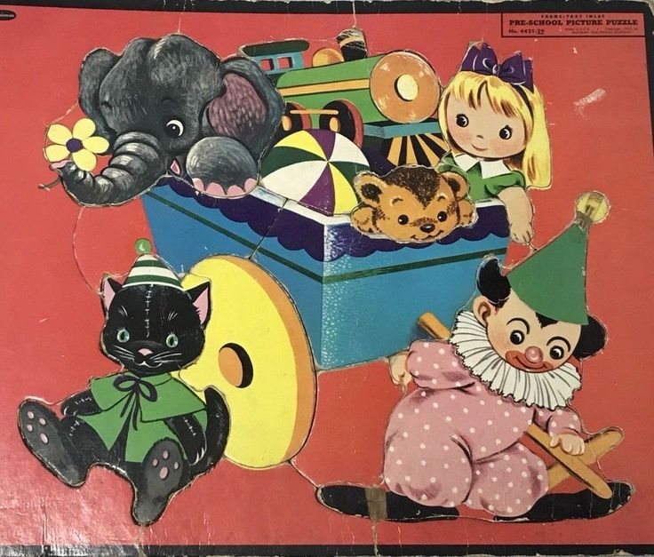 WHITMAN Frame Tray Inlay Puzzles Pre-School Toddler Puzzle 1955 Vintage