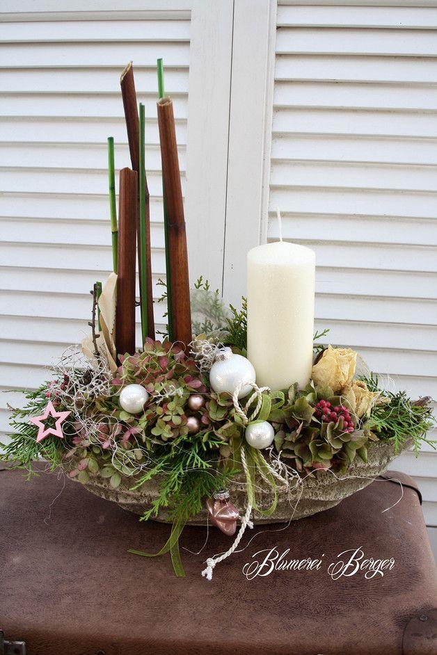 Weihnachtsdeko - :::: Adventsschiffchen :::: - ein Designerstück von BlumereiBerger bei DaWanda