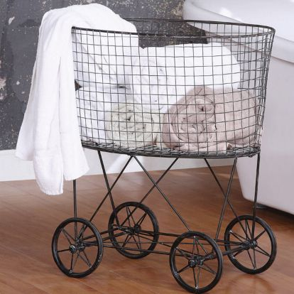 Vintage Wire Laundry Basket | Friday Favorites at www.andersonandgrant.com