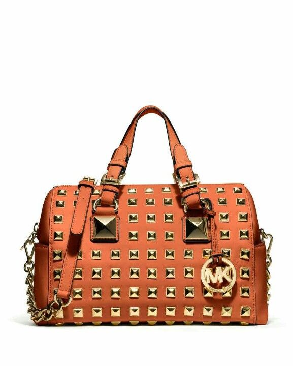 MICHAEL Michael Kors Handbag, Grayson Stud Medium Chain Satchel - All  Handbags - Handbags \u0026 Accessories - Macy\u0027s