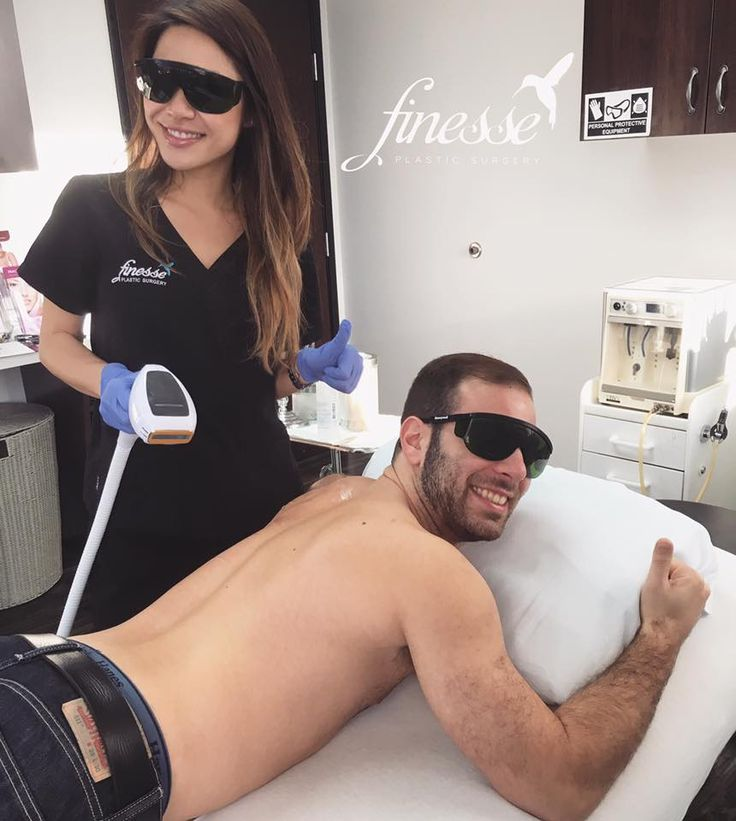 Laser hair removal is not only for the ladies, guys love it too!