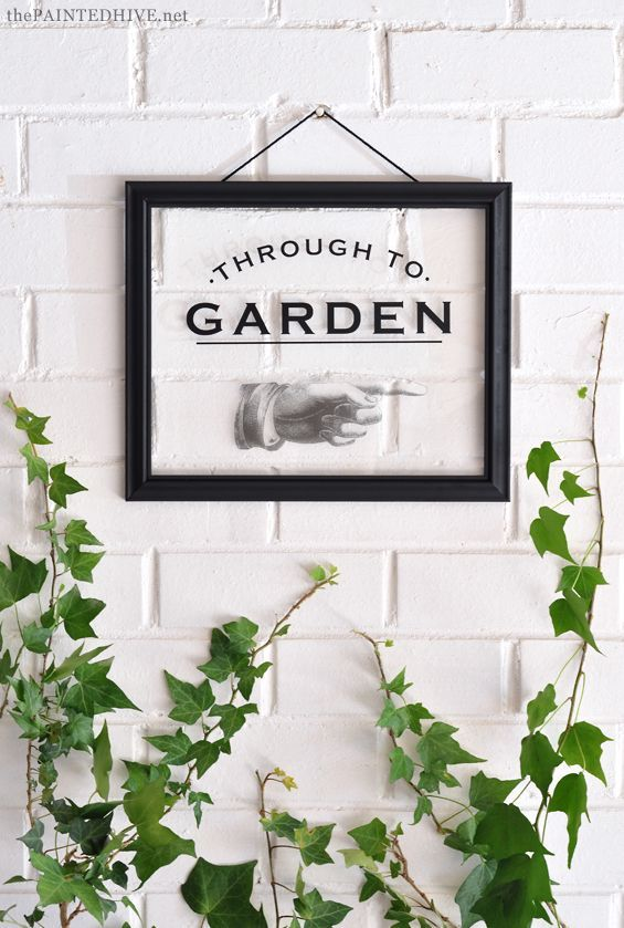 Easy Diy Glass Sign Transfer With Free Printable The