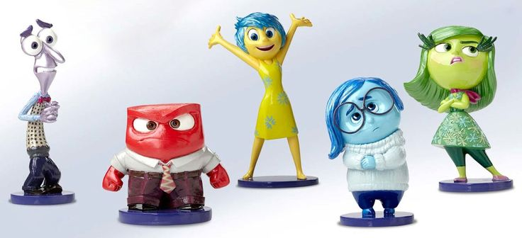 Inside Out - Joy - Anger - Disgust - Sadness - Fear - Set - Walt Disney Showcase Collection - World-Wide-Art.com - #disney #disneyshowcase #figurines #pixar #insideout