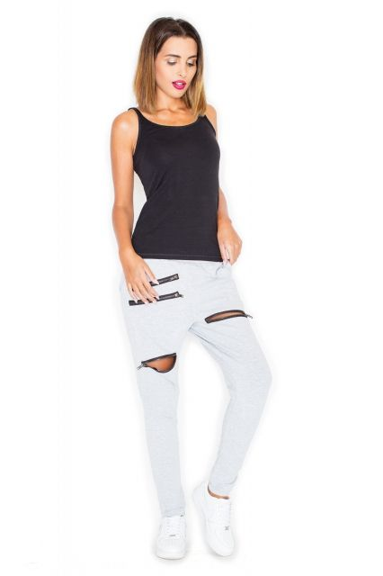 Spodnie dresowe z zamkami